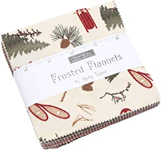 Frosted Flannels Charm Pack by Holly Taylor; 42-5 inch Precut Fabric Quilt Squares
