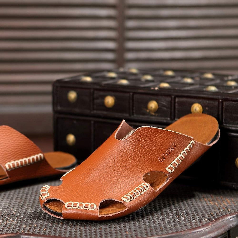 KERVINFENDRIYUN YY4 Pantoufles en Cuir Chaussures de Plage Trou Sandales Pantoufles Occasionnels