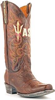 NCAA Arizona State Sun Devils Men's Board Room Style Boots, Brass, 12 D (M) US