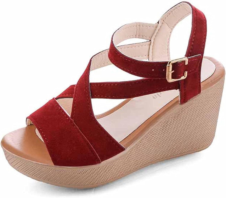 Vintage Classic Special sale item Women's Platform Sandal Peep Buckle Bre Strap Toe Casual