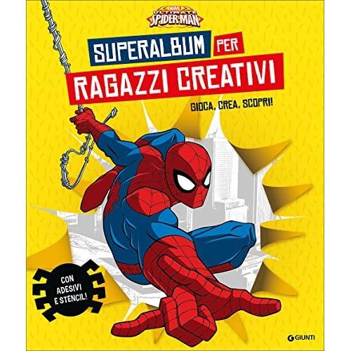 Superalbum per ragazzi creativi. Ultimate Spider-Man. Gioca, crea, scopri! Con adesivi. Ediz. illustrata. Con gadget
