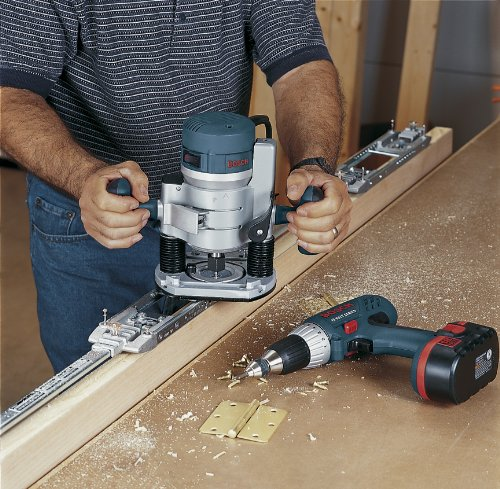 Bosch 1617EVSPK Wood Router Tool Combo Kit - 2.25 Horsepower Plunge Router & Fixed Base Router Kit with a Variable Speed 12 Amp Motor
