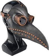 Qeedio Medieval Peste Doctor Máscaras de Pájaro Halloween Scary Mask Pico de pájaro de Nariz Larga Steampunk Retro Rock Bird Mask Fiesta de Navidad Punk Disfraz de Cabeza