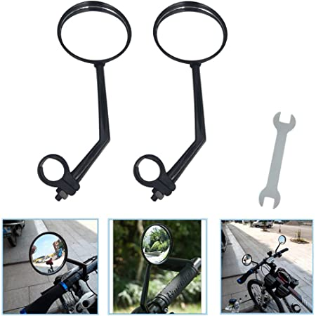 Round Replacement Rear View Bike Side Mirror Professional Adjustable Bicycle