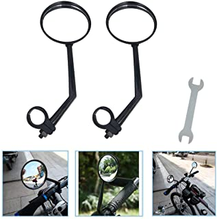 Best A Pair of Rearview Bicycle Mirrors, Bike Mirrors Support 360°Rotation (Suitable for Mountain Bike, Off-Road Bike and Fixed Gear Bike with The Handlebar 1.8 cm - 2 cm (0.71 in - 0.79 in) Diameter) Review