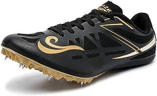 Track & Field Spikes, Junior Track & Field Shoes Running Training Sneakers Unisex Running Spikes Sprint Spikes,Black,41EU