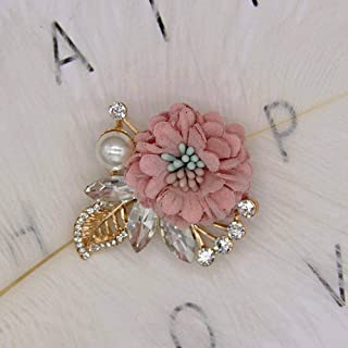 Lapel Pin Brooches for Suits Wedding Flower Corsage Jacket Lapel Pin Brooches | Color - Pink