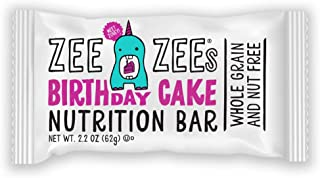 Zee Zees Birthday Cake Soft Baked Bars, Nut Free, Whole Grain, Naturally Flavored and Colored, 2.2 oz Bars, 24 pack
