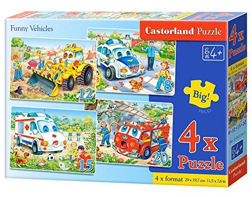 4 Castorland Premium Jigsaw Vehicles