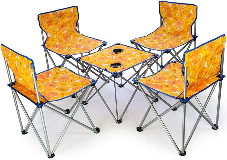 Folding chair Outdoor Klappstuhl Fünfteiliger Campingtisch Und Stuhl Tragbarer Regiestuhl Fester Angelstuhl Mit 242 Pfund (Farbe   A)