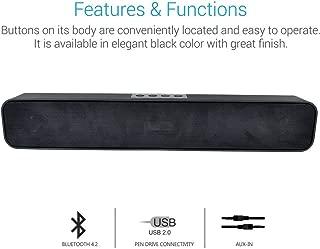 Fieusche® Pure Sound Pro Bluetooth 4.2 an All-in-One Versatile Wireless SOUNDBAR with FM Tuner, 3.5mm AUX, Powerful 10W Sound and USB Port.