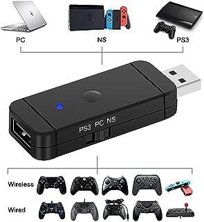 Nintendo Switchコントローラー変換アダプター PS4/XboxOne S/WiiU/Switch Pro Controller/Nintendo Switch Joy-Con 変換コンバー ブルートゥース接続/USBケーブル接続 Switch用 コントローラ接続 コンバーター 日本語取扱説明書付き 操作簡単
