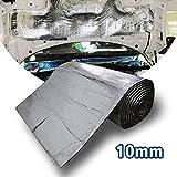 Motify-GT Lingda Tapis de voiture isolant 10mm, isolation thermique et sonore, modération du bruit acoustique du moteur, imperméable, protection contre chaleur et humidité, 101,6 x 61 cm