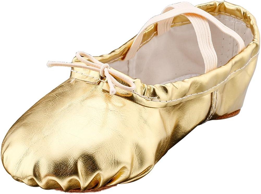 MSMAX Ballet Shoes Dance Slipper Yoga Flat for Women Men Girls Boys