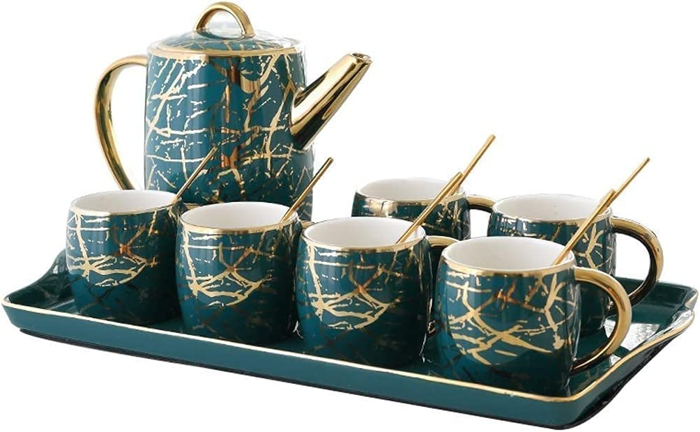 HUAXUE Teapot Japanese, Coffee Tea Dallas Factory outlet Mall Cup Saucer Set Chi and 6