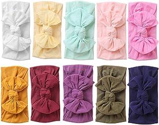 Baby Nylon Headbands Hairbands Hair Bow Elastics for Baby Girls Newborn Infant Toddlers Kids (Super soft-G)
