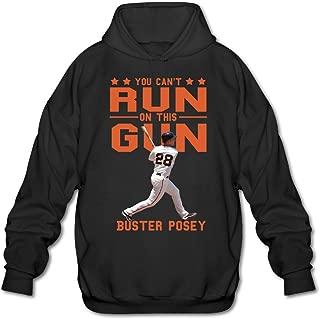 AuSin Men's San Francisco Buster #28 Posey Hoodies Black