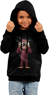 Toddler Funny Curious George 100% Cotton Long Sleeve Hooded Sweatshirt