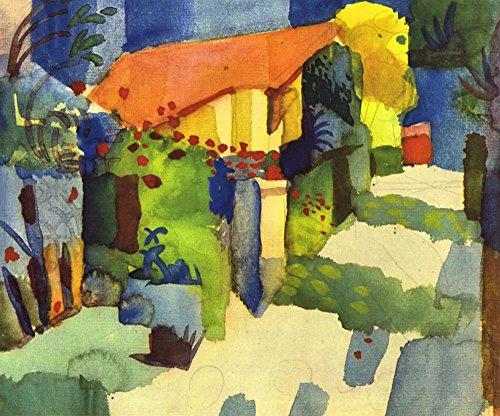 Der Museum Steckdose–Haus im Garten von August Macke–Poster (61x 45,7cm)