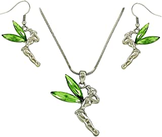Lux Accessories Crystal Tinker Bell Celestial Charm Pendant Necklace