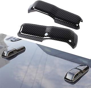 2 قطعة غطاء محرك ABS للسيارات المفصلات غطاء ديكور الإطار ملصق التصميم غطاء الملحقات الخارجية لسيارة جيب رانجلر 2018-2020 (...