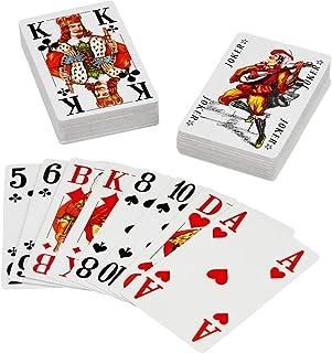 Senioren Romme Spielkarten 2 x 55 Blatt mit extra großen Ziffern und Buchstaben