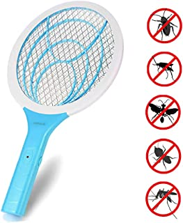 seenlast Raqueta Mosca Antimosquitos, Matamoscas Eléctrico Zapper Mata Mosquito, 3000 Voltios Pl...
