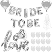 Bride to BE Balloon, 28Pcs, Latex Baloons for Bridal Shower Bachelorette Party Decor Kit(Silver)