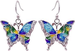 Boho Enamel Silver Monarch Butterfly Drop Earrings Fashion Earrings for Women Perfect Gift for Women
