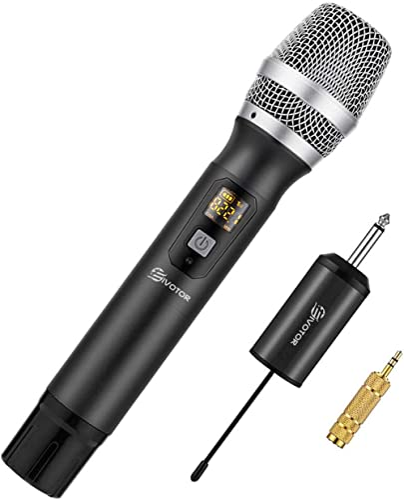 Microphone sans Fil, EIVOTOR Micro de Poche Portable 25 Canaux Professionnel Système de Microphone UHF avec Mini Réce...