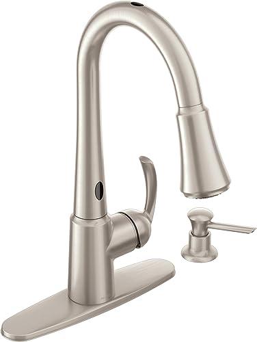 lowest Moen 87359E2SRS wholesale Delaney One-Handle High Arc Pulldown Kitchen Faucet, Spot Resist outlet online sale Stainless online sale