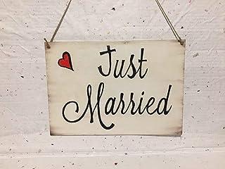 Cartello matrimonio JUST MARRIED oppure OGGI SPOSI