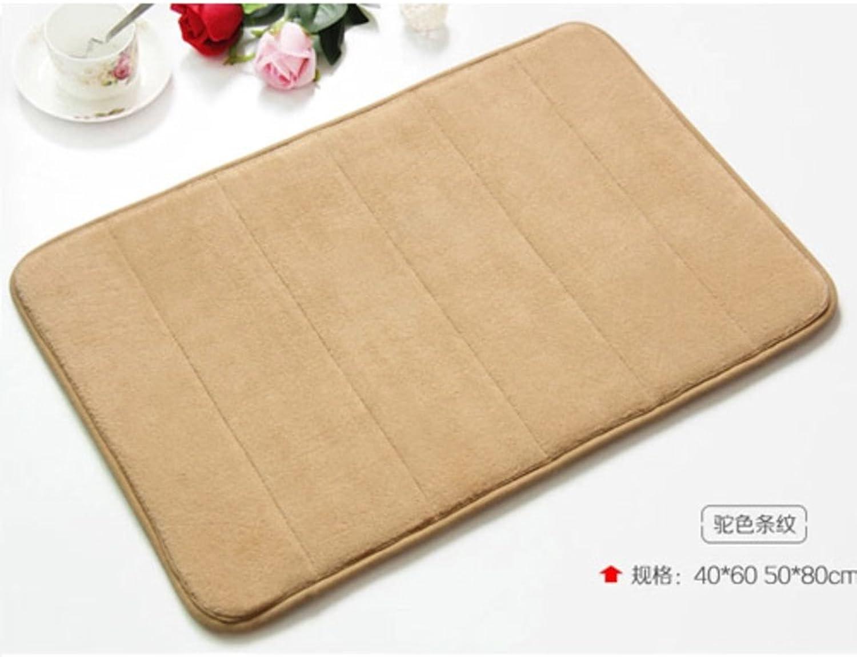 DXG&FX Slow rebound mat bathroom kitchen water absorbent non-slip foot mat-F 100x150cm(39x59inch)