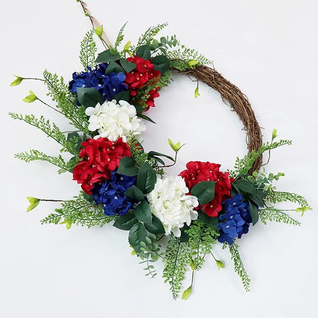 ZNBJJWCP Hydrangea Front Door Wreath Cheap sale Artificial Flower Vintage Ranking TOP17 F