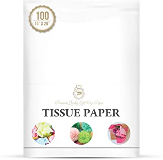 "Basic Solid White Bulk Tissue Paper 15"" x 20"" - 100 Sheets"