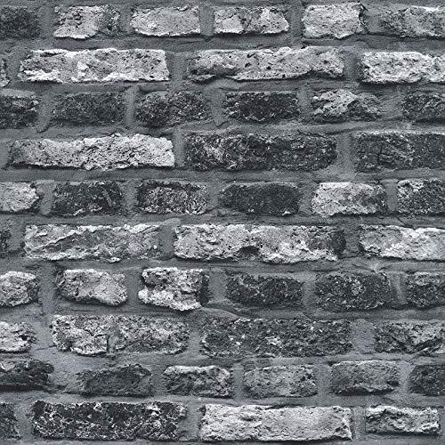 Vliestapete Steintapete Tapete Steinoptik Naturstein-Tapete 362812 36281-2 A.S. Création Il Decoro   Grau Schwarz/Anthrazit   Rolle (10,05 x 0,53 m) = 5,33 m²