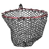 Dsrgwe Red de Pesca Sacadera Marco De Aleación De Aluminio De La Pesca De La Pesca con Mosca Plegable EVA con La Red De La Pesca De La Manija, Rojo
