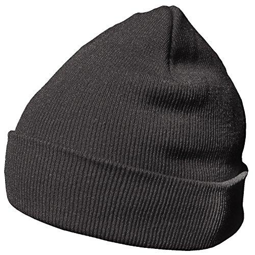 DonDon Wintermütze Mütze warm klassisches Design modern und weich basaltgrau