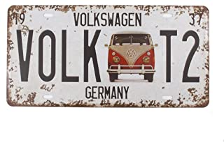 6x12 Inches Vintage Feel Rustic Home,bathroom and Bar Wall Decor Car Vehicle License Plate Souvenir Metal Tin Sign Plaque (GERMANY VOLKSWAGEN)