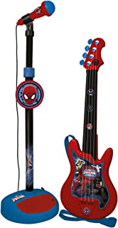 spiderman microphone and guitar
