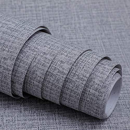 Muebles Papel Impermeable Autoadhesivo,Papel tapiz autoadhesivo de PVC, papel tapiz 3D, renovación autoadhesiva, dormitorio, sala de estar, hotel, papel de pared de fondo 60cmX10m-Gris arpillera