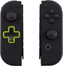 eXtremeRate Soft Touch Black Joycon Handheld Controller Housing (D-Pad Version) with Full Set Buttons, DIY Replacement Shell Case for Nintendo Switch Joy-Con – Console Shell NOT Included