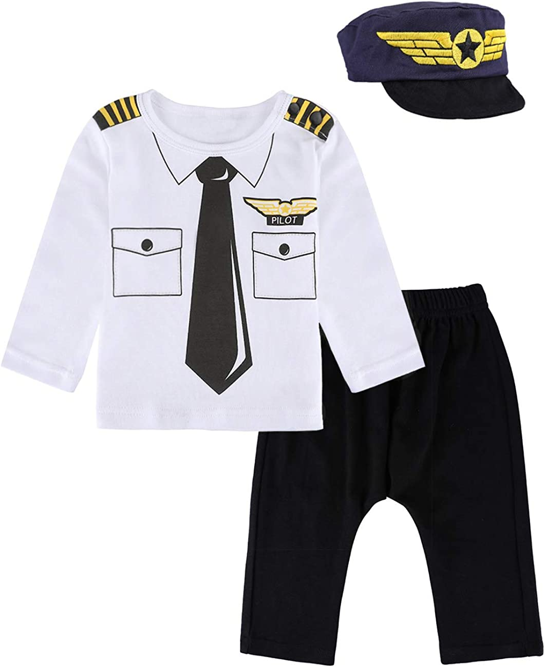 MOMBEBE COSLAND Baby Boys Halloween Clothes Long Pants with Hat Outfits Set