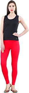 FashGlam Women Premium Ankle Length Cotton Legging - Red