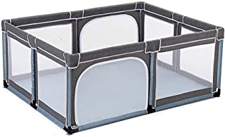 XHJYWL Playpen Baby  8-Panel Playyard Portable Game Fence Extra High 70cm for Infants- Gray Only