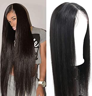 Eliana Lace Front Wigs for Black Women Human Hair 13 x 4 Lace Front Straight Wigs With Baby Hair Pre Plucked and Bleached Knots 150% Density 32 inch Natural Hairline Brazilian Virgin Hair