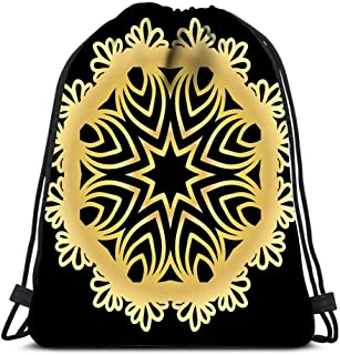 Gym Drawstring Bags Bully Kutta Puppy Dog Breed Strong Aggressive Indian Pakistani Alangu Type Muscular Mammal Sport Storage Polyester Bag For Gym