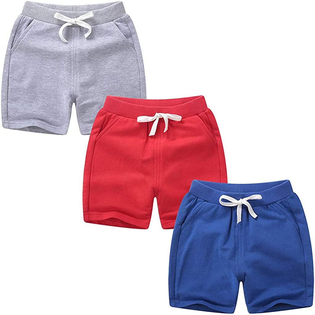 FORESTIME 3PC Sales for sale Chicago Mall Children Kids Baby Girls Sport Boys P Solid Shorts