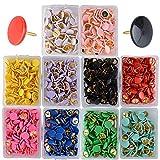 (10 x 10mm)Lot de 1000pcs de Punaises Multicolores Push Pins Epingle pour Bureau Cartes Photos Notes(10 Couleurs)