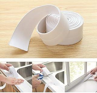 Malayas 5m x 22mm Cinta de Sellado Impermeable y Resistente al Moho Tiras Adhesivas Selladoras para Baño Cocina Esquina Pared Ducha Fregadero Bañera Color Blanco